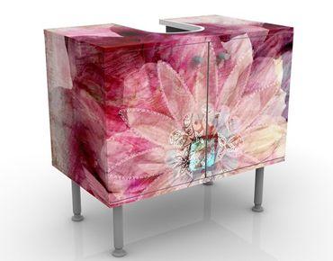 Mobile sottolavabo - Fiore grunge - Mobile bagno rosa con fiori