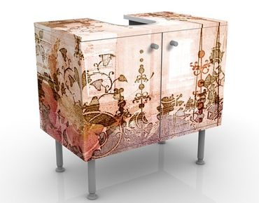Mobile sottolavabo - Grunge antico - Mobile bagno vintage marrone