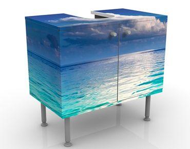 Mobile sottolavabo - Laguna turchese - Mobile bagno marittimo blu