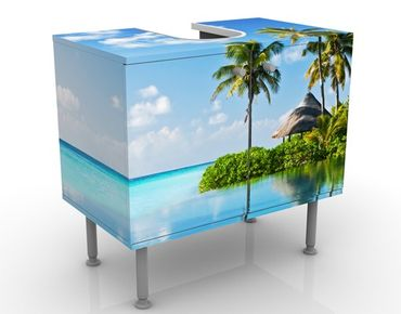 Mobile sottolavabo - Paradiso tropicale - Mobile bagno blu