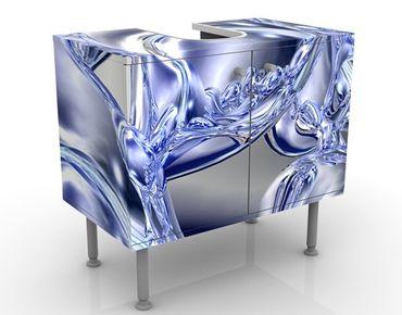 Mobile sottolavabo - Fumo liquido - Mobile bagno blu