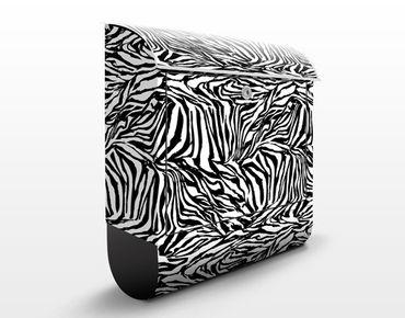 Cassetta postale Zebra Pattern Design 39x46x13cm