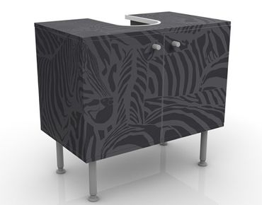 Mobile per lavabo design No.DS3 Zebras Black