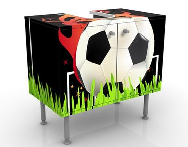 Mobile per lavabo design no.EG5 Football On Fire