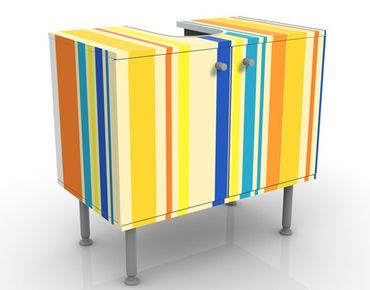Mobile per lavabo design Super Stripes No.4