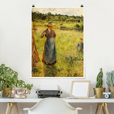 Poster - Camille Pissarro - The Haymaker - Verticale 4:3