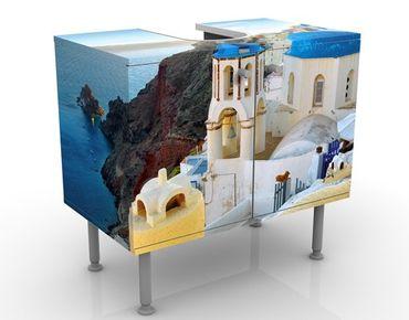 Mobile per lavabo design Santorini