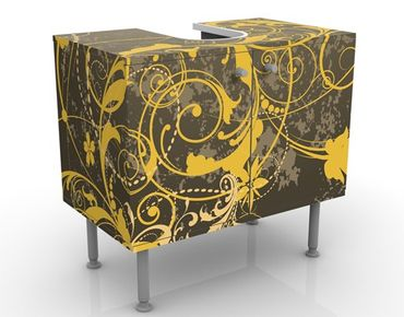 Mobile per lavabo design Curlicues In Gold