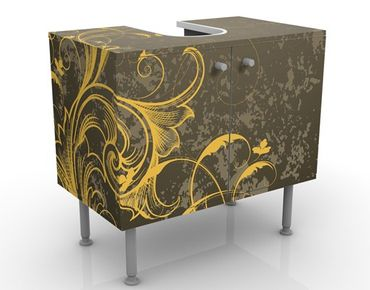 Mobile per lavabo design Curlicues In Gold And Silver