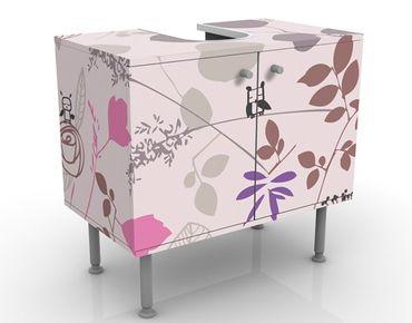 Mobile sottolavabo - Living Below - Mobile bagno rosa con fiori