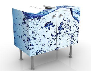 Mobile sottolavabo - Sensazione di freschezza - Mobile bagno blu e bianco