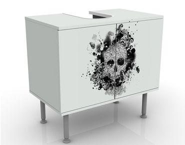 Mobile per lavabo design Skull
