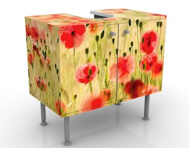 Mobile per lavabo design Summer Poppies