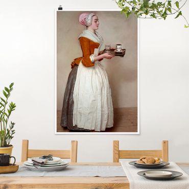 Poster - Jean Etienne Liotard - La ragazza del cioccolato - Verticale 3:2