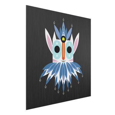 Stampa su alluminio spazzolato - Collage Mask Ethnic - Gnome - Quadrato 1:1