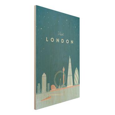 Stampa su legno - Poster Viaggio - Londra - Verticale 3:2