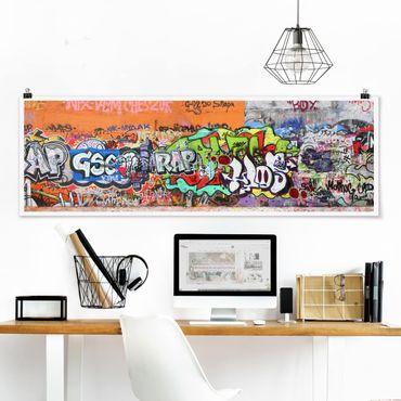 Poster - graffiti - Panorama formato orizzontale