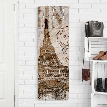 Appendiabiti - Shabby Chic Collage - Parigi