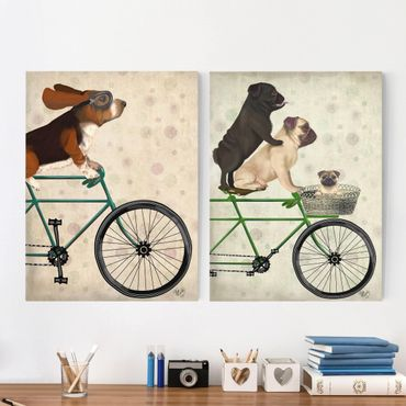 Stampa su tela - Ciclismo - Basset E Carlini Set I - Verticale 4:3