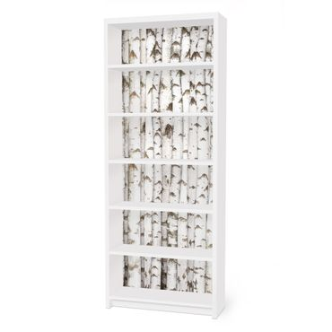 Carta adesiva per mobili IKEA - Billy Libreria - No.YK15 Birch Wall