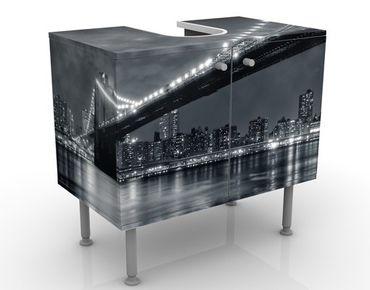 Mobile sottolavabo - Misteri a Manhattan - Mobile bagno nero e grigio