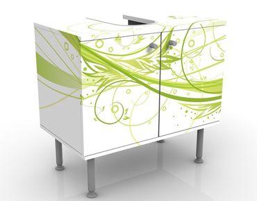 Mobile sottolavabo - Marzo - Mobile bagno bianco e verde
