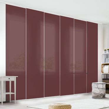 Tenda scorrevole set - Burgundy