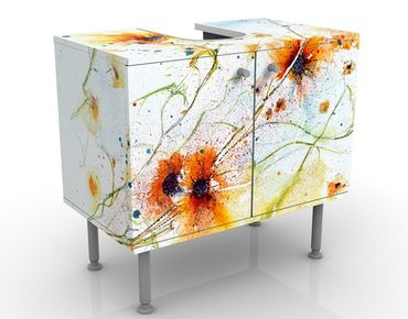 Mobile per lavabo design Painted Flowers