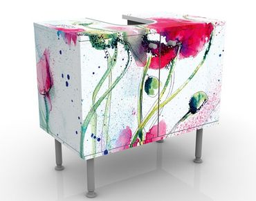 Mobile per lavabo design Painted Poppies