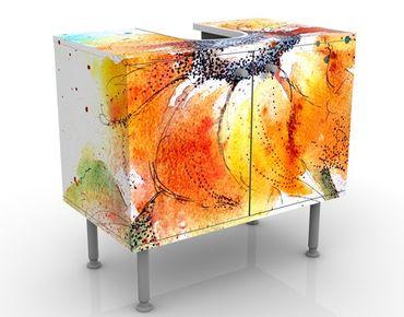 Mobile per lavabo design Painted Sunflower