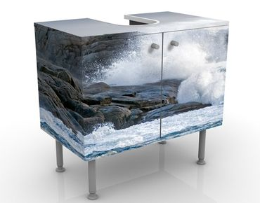 Mobile per lavabo design Storm Waves At The Lighthouse