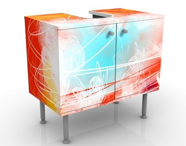 Mobile per lavabo design Red Grunge With Butterflies