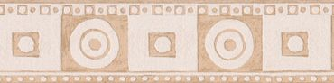 Carta da parati - Livingwalls Only Borders 9 in Beige Crema Rosso