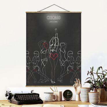 Foto su tessuto da parete con bastone - Film Poster Chicago - Verticale 4:3