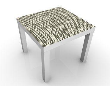 Tavolino design Geometric Pattern Brown