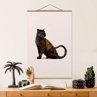Foto su tessuto da parete con bastone - Panthers d'oro - Verticale 3:2