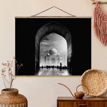 Foto su tessuto da parete con bastone - Il Gateway al Taj Mahal - Orizzontale 3:4
