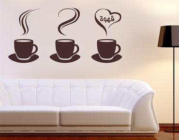 Adesivo murale no.1425 Coffee Cups
