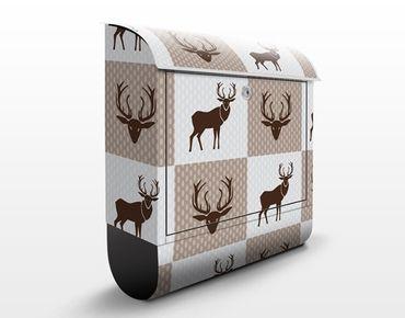 Cassetta postale Deer Ornament 39x46x13cm