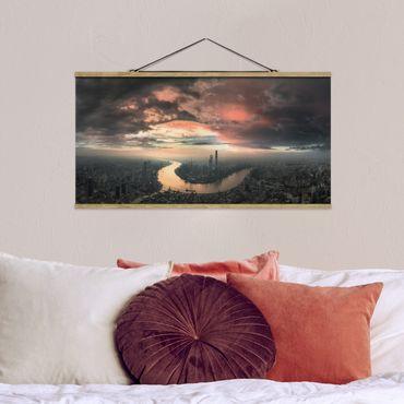 Foto su tessuto da parete con bastone - Shanghai Mattina - Orizzontale 1:2
