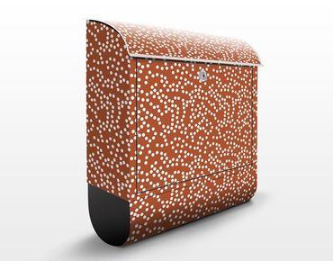 Cassetta postale Aboriginal Dot Pattern Design 39x46x13cm