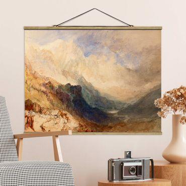 Foto su tessuto da parete con bastone - William Turner - Valle d'Aosta - Orizzontale 3:4