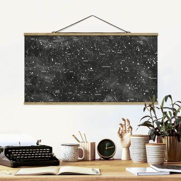 Foto su tessuto da parete con bastone - Constellation Mappa Ottica pannello - Orizzontale 1:2