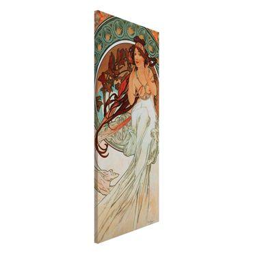 Lavagna magnetica - Alfons Mucha - Quattro arti - Musica - Panorama formato verticale