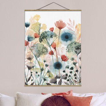Foto su tessuto da parete con bastone - Wildflowers In estate ho - Verticale 4:3