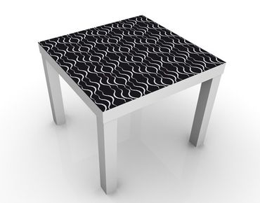 Tavolino design Waves Dotpattern Black