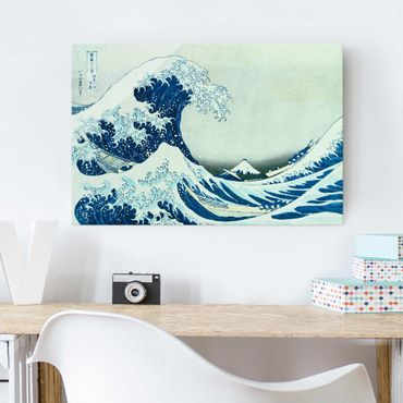 Quadro in vetro - Katsushika Hokusai - La grande onda a Kanagawa - Orizzontale 2:3
