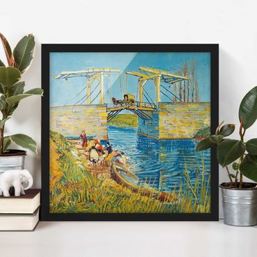 Poster con cornice - Vincent Van Gogh - Drawbridge In Arles - Quadrato 1:1