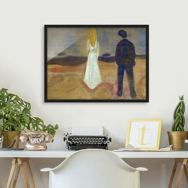 Poster con cornice - Edvard Munch - Two People - Orizzontale 3:4