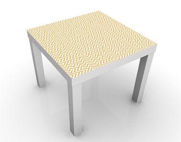 Tavolino design Yellow geometric pattern